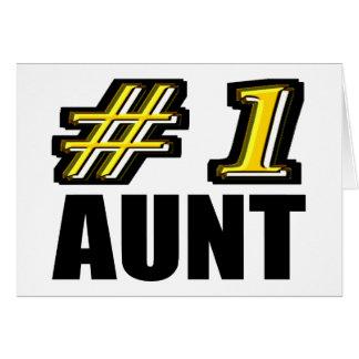 3D tía del número uno Tarjetón