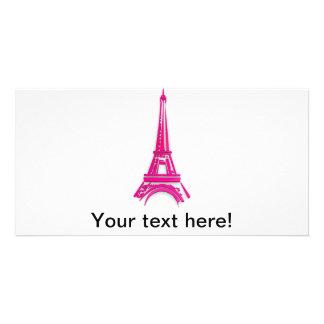 3d torre Eiffel, clipart de Francia Tarjeta