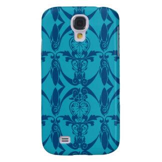 3G damasco azul Pern Carcasa Para Galaxy S4