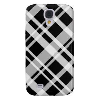 3G tela escocesa negra Pern Funda Samsung S4