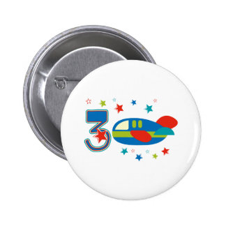 3ro Aeroplano del cumpleaños Pins