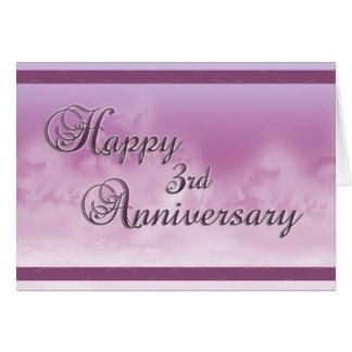 3ro aniversario feliz (aniversario de boda) tarjeta de felicitación