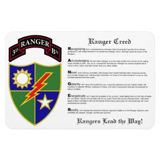3ro batallón - 75.o imán 4x6 del regimiento de