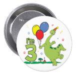 3ro botón del cumpleaños de Dino Pin