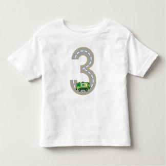 3ro Camiseta del camión de basura del cumpleaños