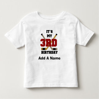 3ro camisetas y regalos del cumpleaños del hockey