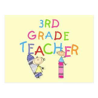 3ro camisetas y regalos del profesor del grado de postal