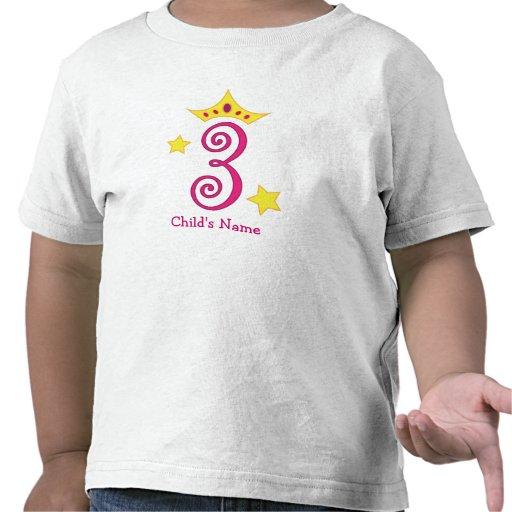 ¡3ro cumpleaños feliz, princesa! camisetas