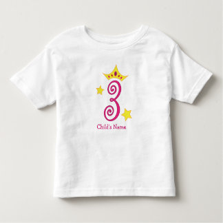 ¡3ro cumpleaños feliz, princesa! camiseta