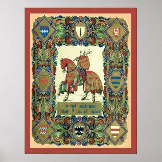 3ro El ~ de la cruzada Knights a Templar Póster