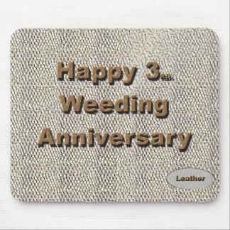3ro feliz. Aniversario de boda Tapete De Raton