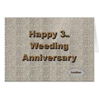 3ro feliz. Aniversario de boda Tarjeton