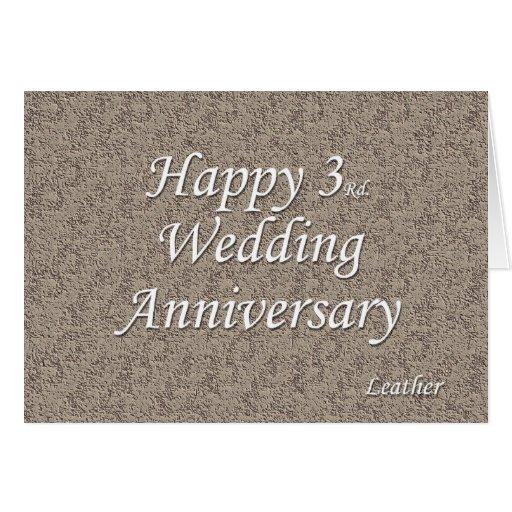 3ro feliz. Aniversario de boda Felicitaciones