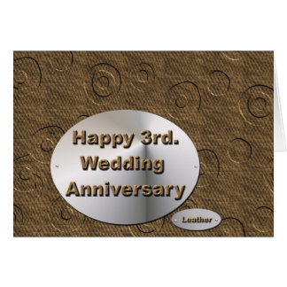 3ro feliz. Aniversario de boda Felicitación