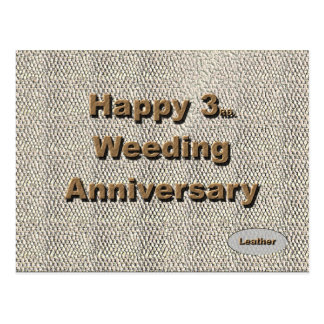 3ro feliz. Aniversario de boda Postales