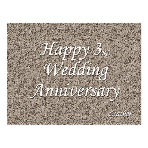 3ro feliz. Aniversario de boda Postal
