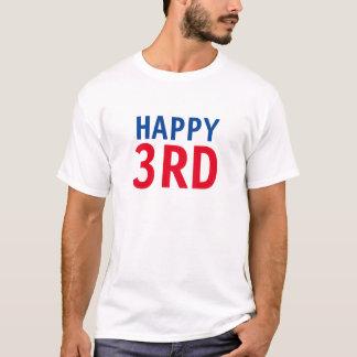 3ro feliz camiseta