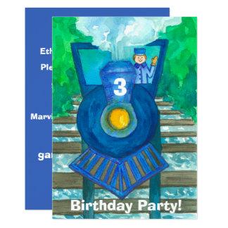 3ro invitación de la fiesta de cumpleaños del tren