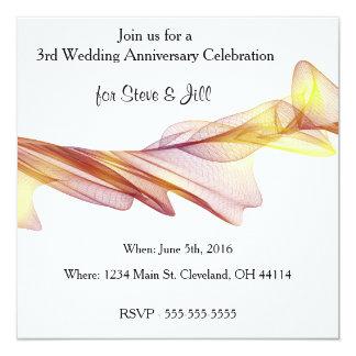 3ro invitación moderna del aniversario de boda