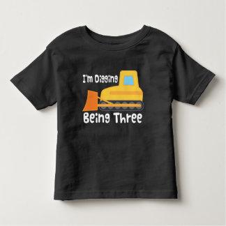 3ro Niño del camión de la construcción de la Camiseta De Bebé