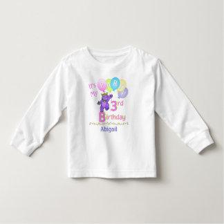 3ro Princesa Bear de la chica marchosa del Camiseta De Bebé
