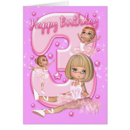 3ro Tarjeta de cumpleaños con la bailarina linda