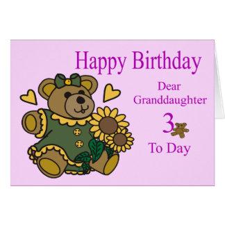 3ro tarjeta de cumpleaños de la nieta