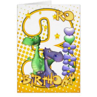3ro tarjeta de cumpleaños de los gemelos - pequeño