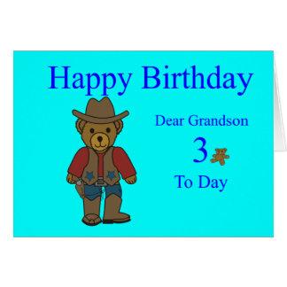 3ro tarjeta de cumpleaños del nieto