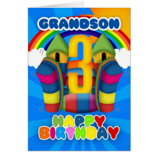3ro tarjeta de cumpleaños del nieto con el castill