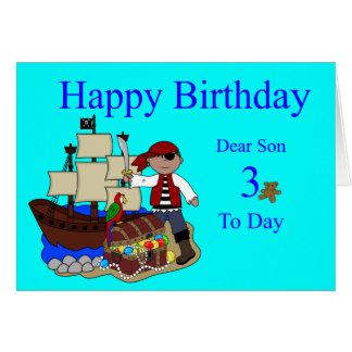 3ro Tarjeta de cumpleaños para un hijo