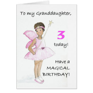 3ro Tarjeta de cumpleaños para una nieta