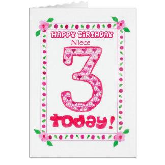 3ro Tarjeta de cumpleaños para una sobrina