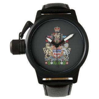 [400] Escudo de armas de Canadá [3D] Relojes De Pulsera