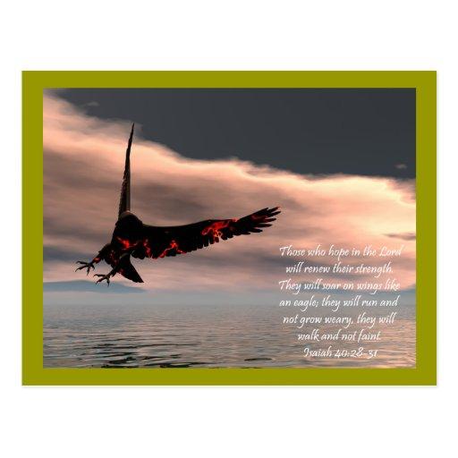 40:28 de Isaías del verso de la biblia - 31 con Tarjetas Postales