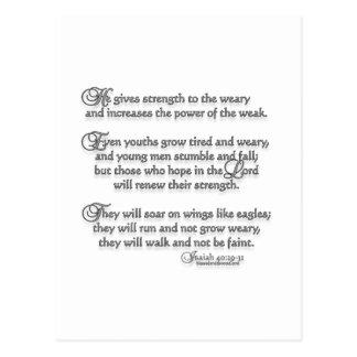 40:29 de Isaías - 31 Postal