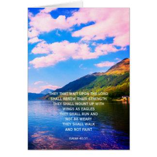 40:31 1, tarjeta cristiana personalizada de Isaías