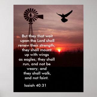 40:31 de Isaías - impresión del arte