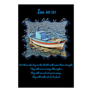 40:31 del AIA con un barco viejo en el océano Póster