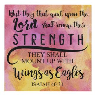 40:31 KJV de Isaías Cuadro