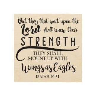 40:31 KJV de Isaías Impresión En Madera