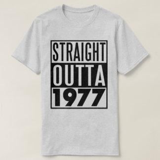 40.a camiseta Outta recto 1977 del cumpleaños
