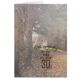 40.a cumpleaños-condolencia en maderas de niebla tarjeta de felicitación