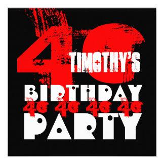 40 a fiesta de cumpleaños del NEGRO ROJO 40 años d