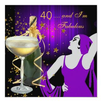 40.a fiesta de cumpleaños fabulosa de 40 divas invitación 13,3 cm x 13,3cm