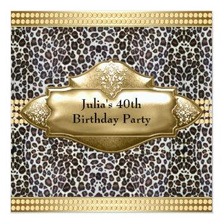 40.a fiesta del cumpleaños del oro de la mujer invitación 13,3 cm x 13,3cm