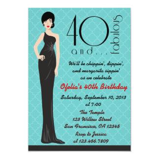 40.a invitación con clase del cumpleaños