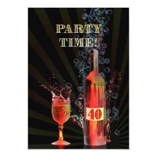 40.a invitación de la fiesta de cumpleaños