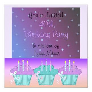 40.a invitación de la fiesta de cumpleaños de la