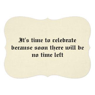 40 a invitación de la fiesta de cumpleaños de la o